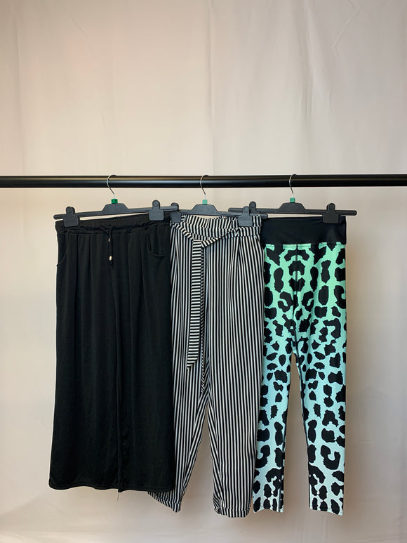 Women's Clothes Bundle 3 Assorted Trousers inc. Pull and Bear Size Medium