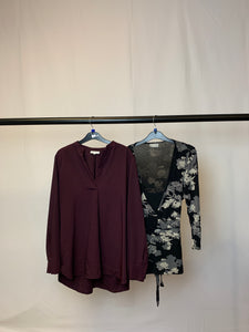 Women's Clothes Bundle 2 Warehouse and Wallis Tops Size 14