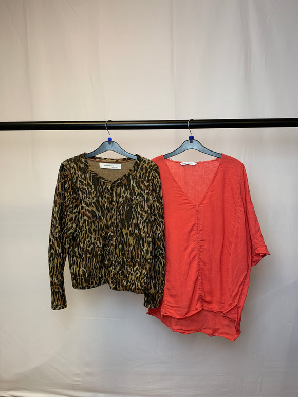 Women's Clothes Bundle 2 Zara Top and Cardigan Size Large