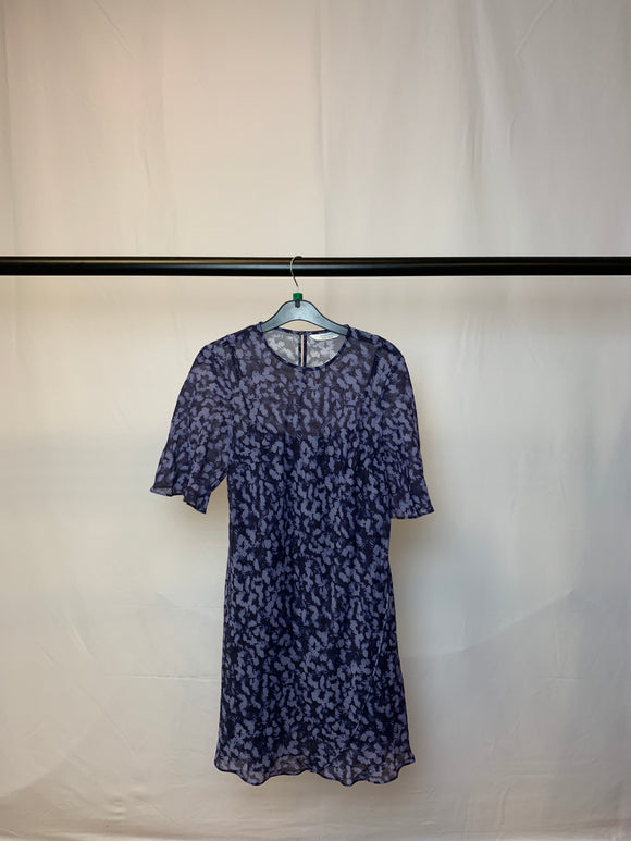 Women's & Other Stories Purple Floral Print Dress With Slip Size 12