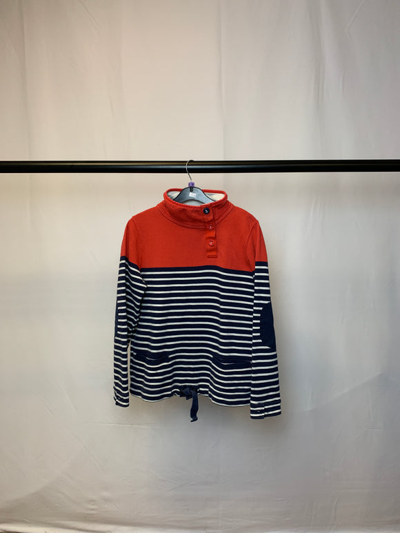 Women's Joules Blue and White Striped Jumper Size 8