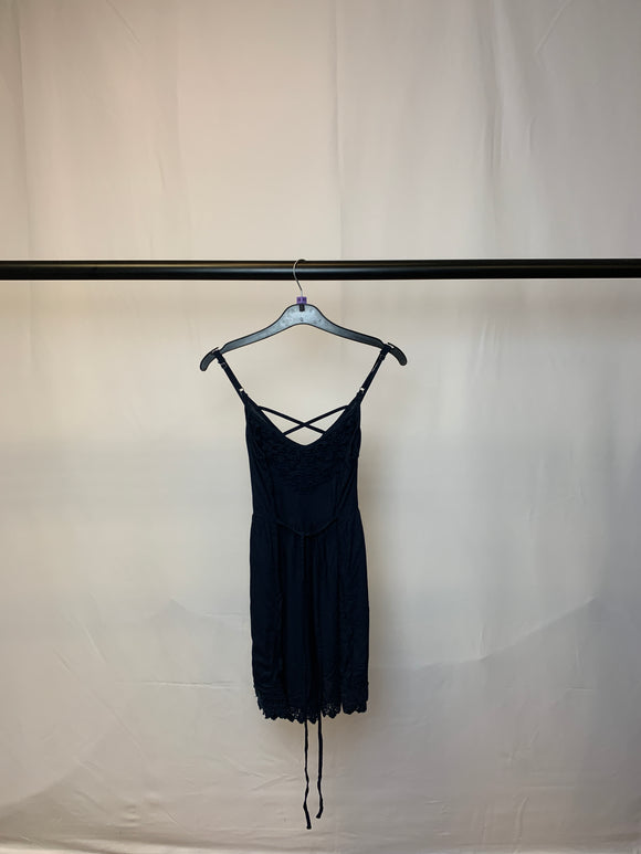 Women's Hollister Navy Lace Strappy Playsuit Size XS