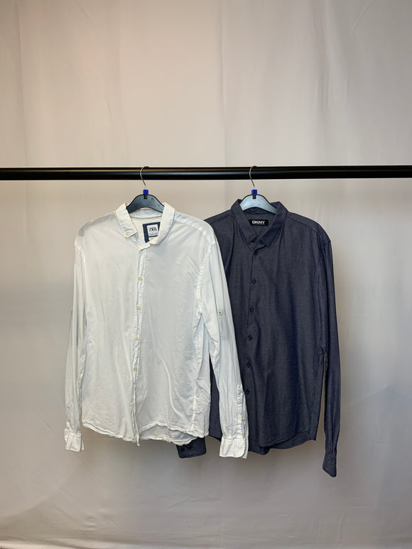 Men's Clothes Bundle 2 Zara and DKNY Shirts Size Large