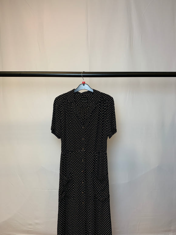 Women's Urban Outfitters Maxi Polka Dot Button Front Dress Size Small