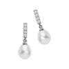 Sterling Silver CZ Pearl Fashion Earring