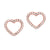 14KT Diamond Heart Earrings 1/10 Ct