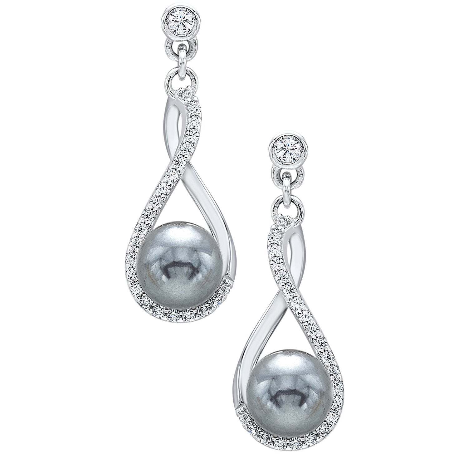 Sterling Silver Pearl Drop Earrings
