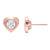 10KT Rose Gold Magnifire Diamond Heart Earrings 1/7 Ctw