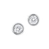14KT White Gold Bezel Set Diamond Earrings