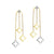 10KT Two-Toned Star Drop Earrings 1/3 CTW