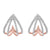 Diamond Spade Earrings In 10K Rose Gold (1/4 Ct. Tw.)