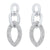 Triple Chain Dangle CZ Earrings In Sterling SIlver