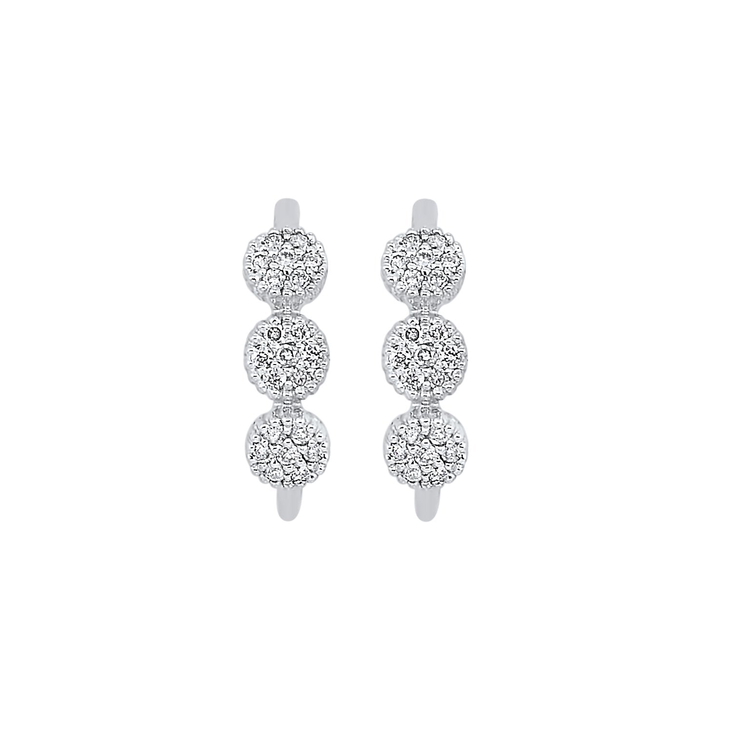 10KT Circle Bar Earrings -- 1/8 CTW