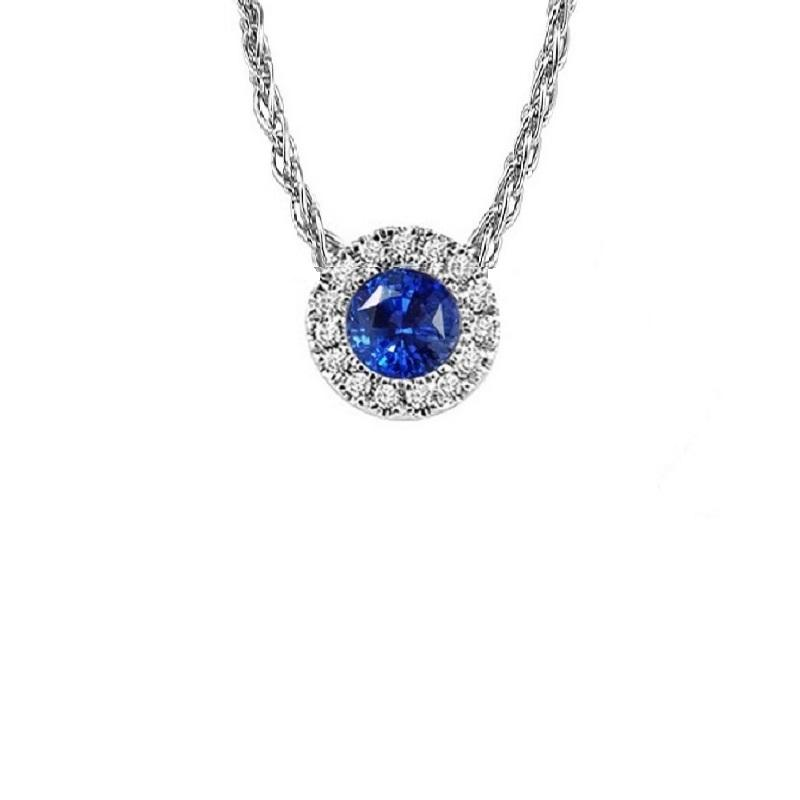 14KT White Gold Mixable Pendant - Sapphire - September