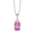 10KT White Gold Birthstone Pendant - Pink Tourmaline - October