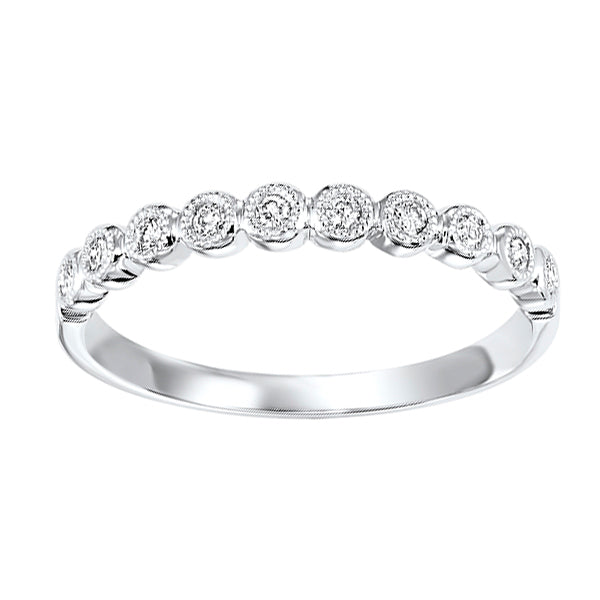 10K White Gold Diamond Stackable Ring