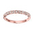 10K Rose Gold Geometic Stackable Ring