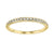 10K Yellow Gold Mixable Ring with Round Diamonds