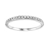 Diamond 1/4 Eternity Asymmetrical Band In 14k White Gold