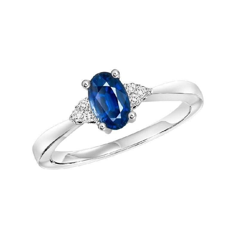 10KT White Gold Birthstone Ring - Sapphire - September