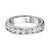 14KT White Gold Round Diamond Channel Set Band 1 ctw
