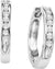 14KT White Gold Diamond Channel Set Earrings 1 ctw