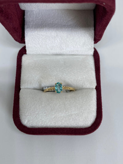 14K Yellow Gold Apatite Ring
