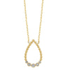14K Yellow Gold Teardrop Diamond Necklace 1/8 CTW