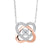 14KT Two-Tone Diamond Necklace 1/3 ctw