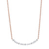 Diamond Curved Bar Link Necklace In Gold (1/4 Carat)
