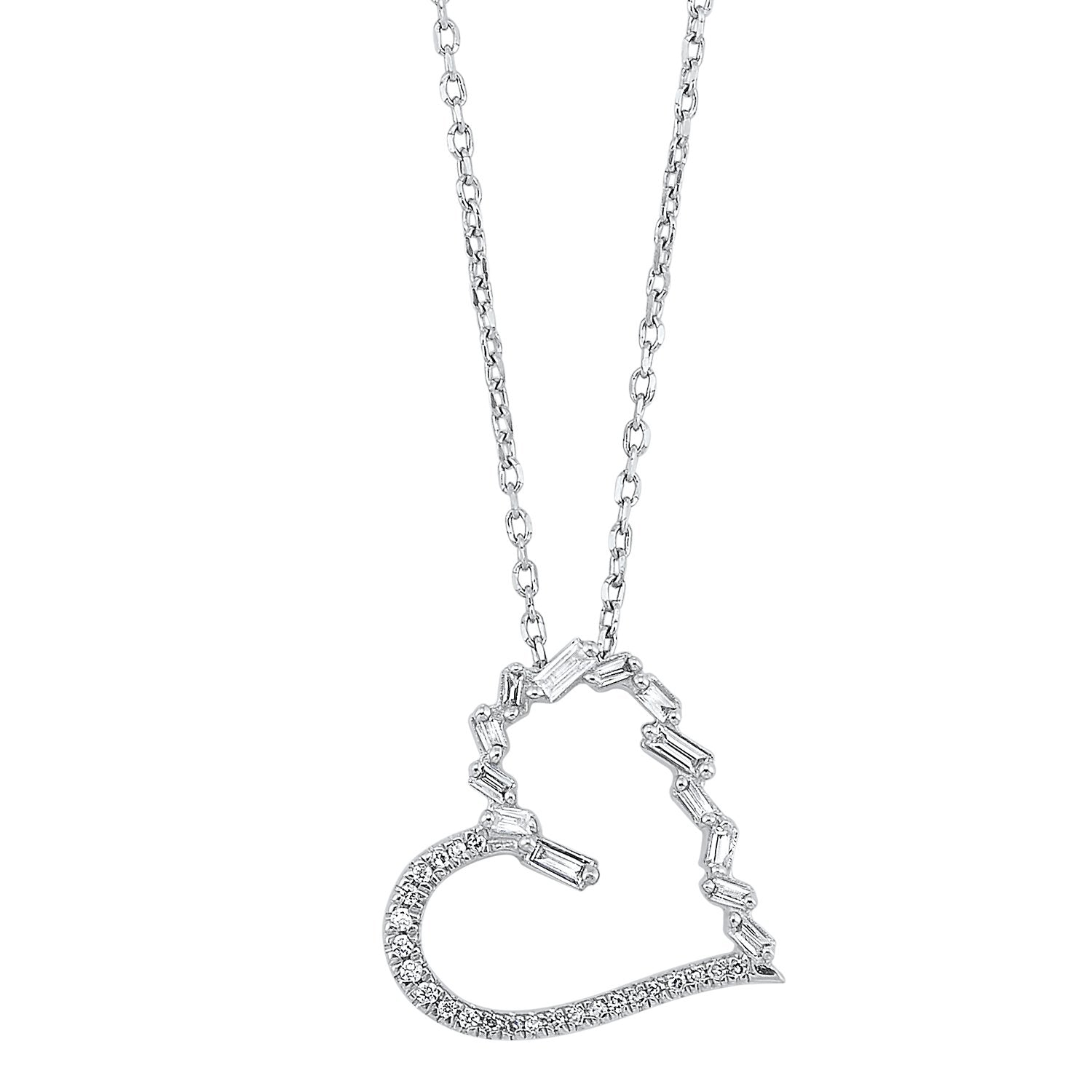 14K Diamond Heart Pendant 1/6 CTW