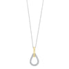 14KT Two-Tone Diamond Pendant 1/7 ctw