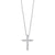 Diamond Cross Pendant In 10K White Gold (1/10 Ct. Tw.)