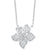 White Gold Flower Diamond Pendants 1/5 CTW