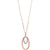Diamond Double Eternity Oval Anniversary Pendant Necklace In Gold (1/10ctw)