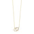 Diamond Double Eternity Circle Pendant Necklace In 14k Yellow Gold (0.08 Ctw)