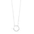 Diamond Pave Half-Eternity Circle Pendant Necklace In 14k White Gold (0.08ctw)
