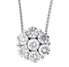 Round Diamond Pendant in 14K White Gold (1 ctw)