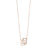 Diamond Double Eternity Rectangle Pendant Necklace In 14k Yellow Gold (0.08ctw)