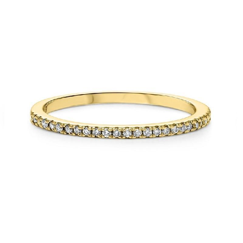 10K Yellow Gold Diamond Stackable Ring - 1/7 ct.