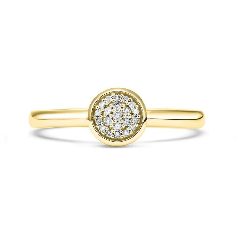 14K Yellow Gold Diamond Mixable Ring 1/10 ct
