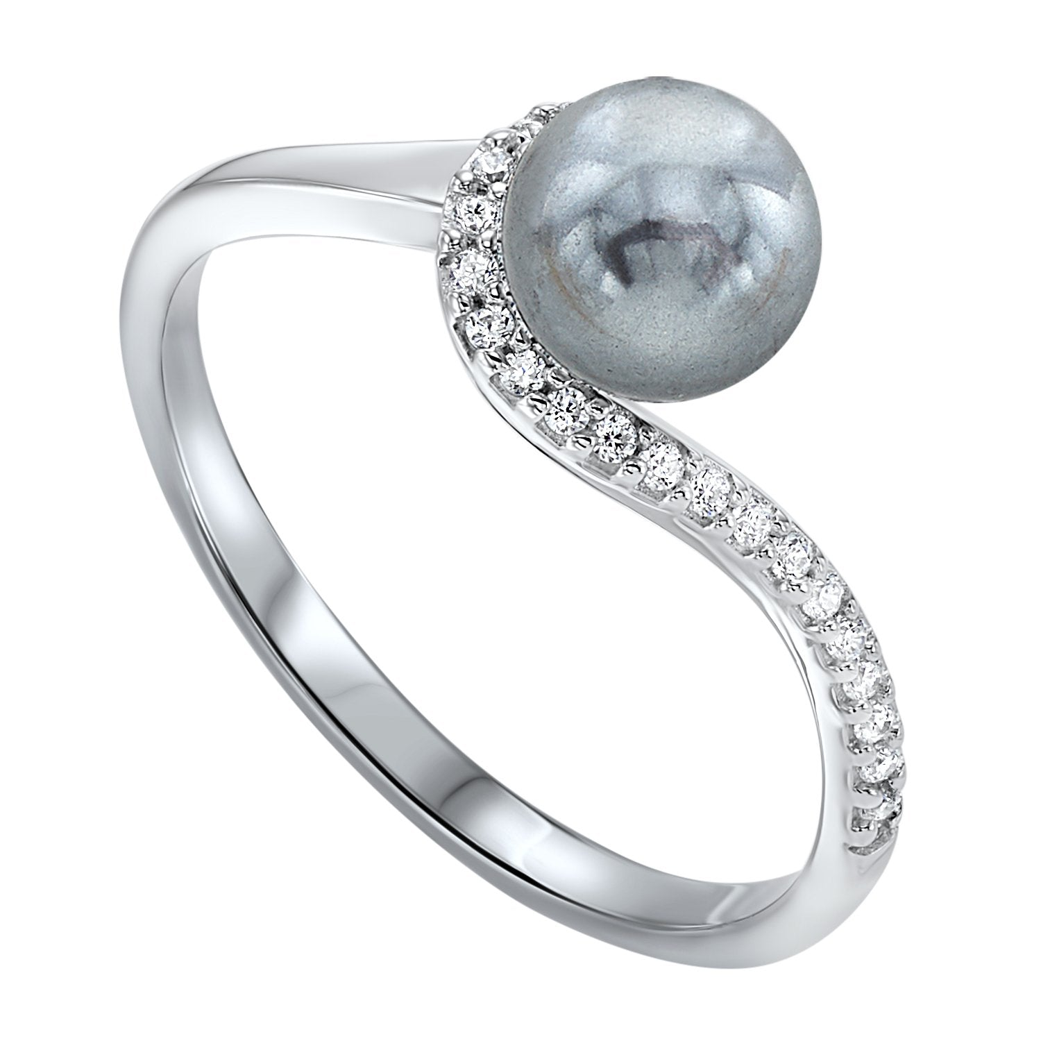 Sterling Silver Shell Pearl Ring