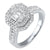 14K Double Halo Diamond Engagement Ring 1 CTW