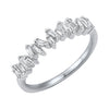 14K Zig Zag Baguette Diamond Ring 1/3 ctw
