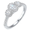 14K Three Stone Diamond Ring 3/4 CTW