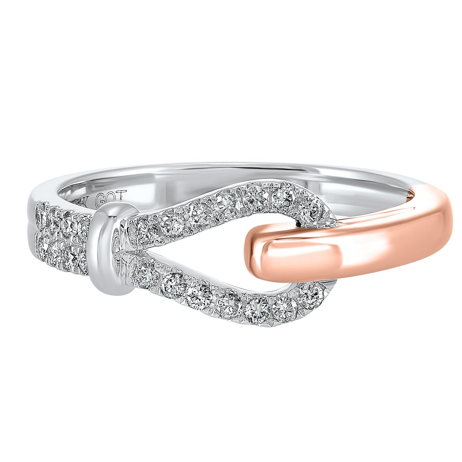 14KT Two-Tone Diamond Ring 1/5 ctw