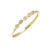 Diamond Mini Stackable Ring In Yellow Gold (0.01ctw)