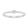 Diamond Petite Cluster Beaded Stackable Ring (0.02ctw)