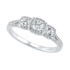14K Three Stone Diamon Ring 5/8 CTW
