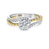 14KT White Gold Diamond Semi-Mount Bridal Ring 1/4 ctw